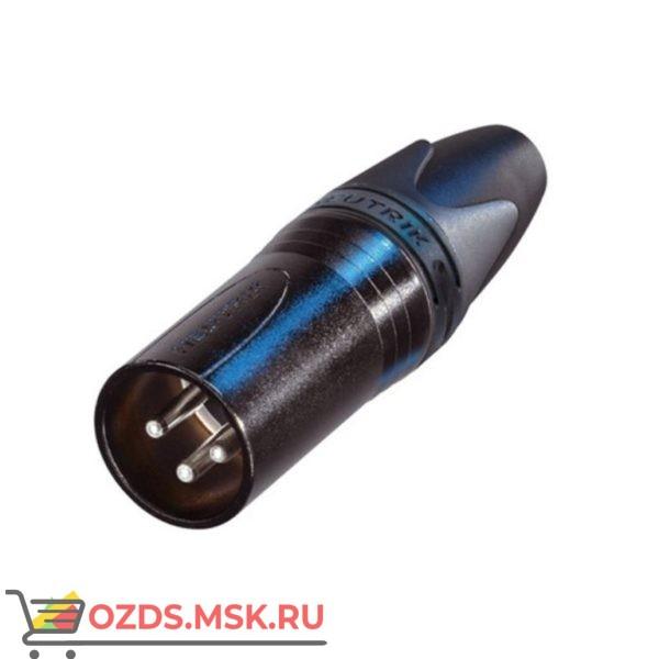 Специальная версия 3-полюсных разъемов XLR Van den Hul NC3 MX-CC Тип Папа. Цвет черный, с позолоченным контактом