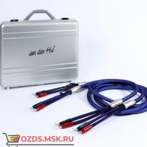 Акустический кабель  Van den Hul Mounted set 3T The Cloud Limited Edition Hybrid. 2 метра пара. Разъем BERRI bi-amping  (4-4) Цвет пастельно-голубой