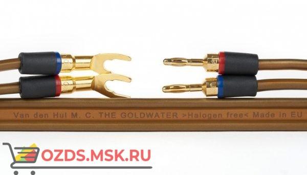 Плоский двужильный акустический кабель в нарезку Van den Hul The Goldwater. Длина 1 метр.