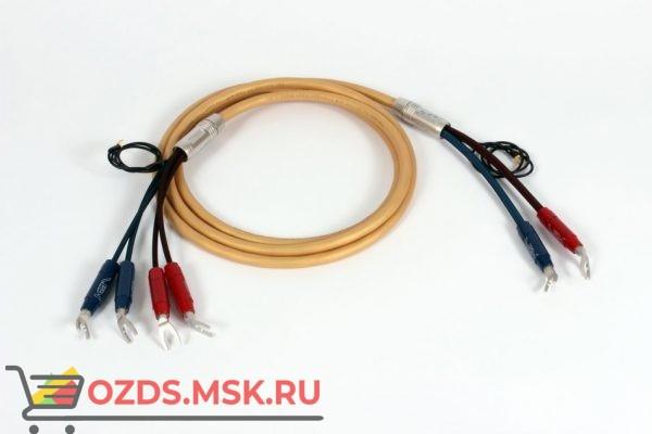 Акустический кабель  Van den Hul Mounted set 3T The Air. 2,5 метра пара. Разъем BERRI bi-amping  (4-4) Цвет золотой