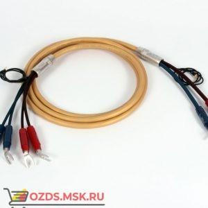 Акустический кабель  Van den Hul Mounted set 3T The Air. 3 метра пара. Разъем BERRI bi-amping  (4-4) Цвет золотой