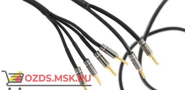 Акустический кабель Atlas Hyper Bi-Wire (4 на 4) 3.0 м разъем Банан Z типа, посеребрённый