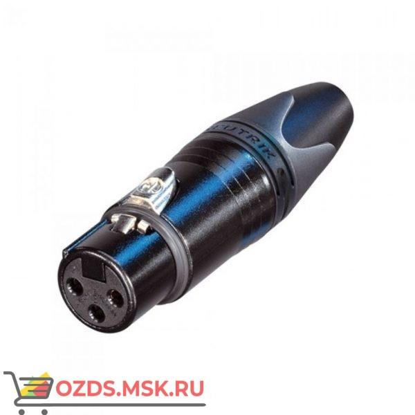 Специальная версия 3-полюсных разъемов XLR Van den Hul  NC3 FX-CC Тип Мама. Цвет черный, с позолоченным контактом
