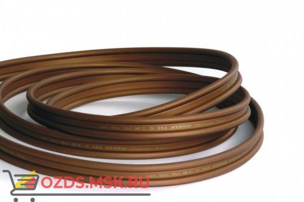 Плоский двужильный акустический кабель в нарезку Van den Hul The D-352 Hybrid. Длина 1 метр. Цвет красный металлик