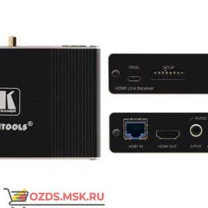 Kramer TP-580RA: Приёмник HDMI, RS-232 и ИК по витой паре HDBaseT с деэмбеддером аудио