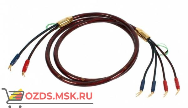 Акустический кабель Van den Hul The Nova. 2 метра пара. Разъем BERRI (2-2) Цвет красный