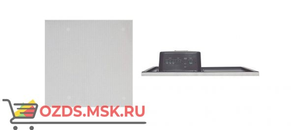"""TAVOR 8-T Активный прямоугольный потолочный громкоговоритель с системой равномерного распределения звука, с трансформатором; моно/стерео, размер целой потолочной панели типа Армстронг, 600х600 мм, усилитель 40 Вт, кевларовый диффузор 8"""""""