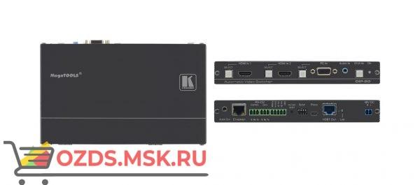 DIP-20: Передатчик HDMI/VGA, стерео аудио, двунаправленного RS-232, ИК и Ethernet по витой паре HDBaseT с кнопкой управления коммутатором Step-In