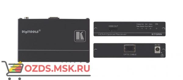 670RN Приемник сигнала HDMI по волоконно-оптическому кабелю; работает с 670T/671T, 1080р до 1700 м, 4K до 400 м