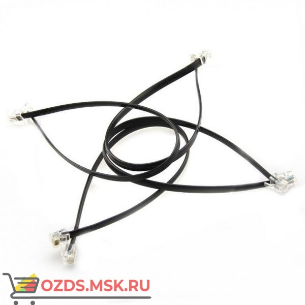 6P6C RJ25 cable-35cm (4 шт.): Кабель