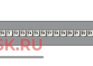 32x1 1RU Панель 32x1 для управления матричным коммутатором Sierra; 1U