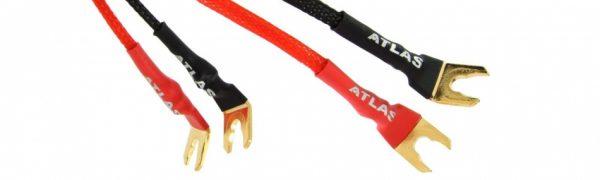 Перемычка для подключения акустики Atlas, красный (проводник из золота)