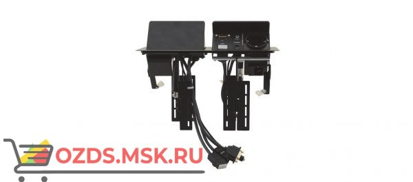 """(TBUS-202XL(B)) Модуль для подключения кабелей TBUS-202, цвет """"черный"""" (не включает розетки). Крышка с пневмолифтом."""