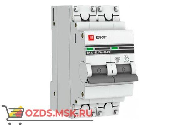 ЭКФ PROxima mcb4763-2-32C-pro Выкл.автомат. ВА 47-63 2P 32А (C) 4,5кА