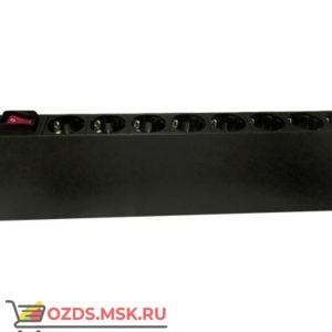Hyperline SHT19-8SH-S-IEC Блок розеток