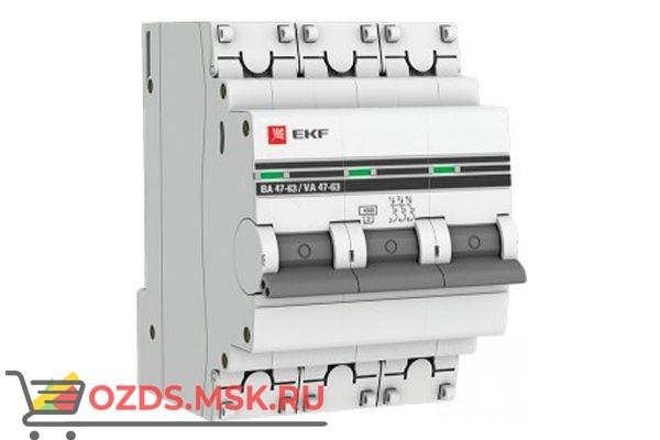 ЭКФ PROxima mcb4763-3-06C-pro Выкл.автомат. ВА 47-63 3P   6А (C) 4,5кА