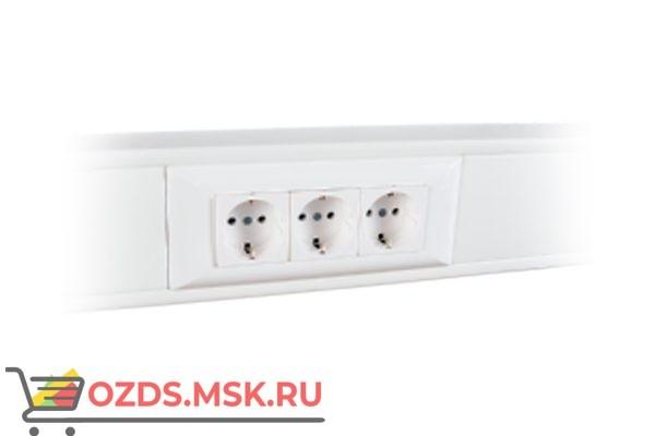 Суппорт с рамкой на 3 поста (45х45) в профиль для кабель-канала 100х50 100009S 10шт/уп SPL