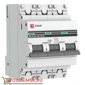 ЭКФ PROxima mcb4763-3-10D-pro Выкл.автомат. ВА 47-63 3P 10А (D) 4,5кА