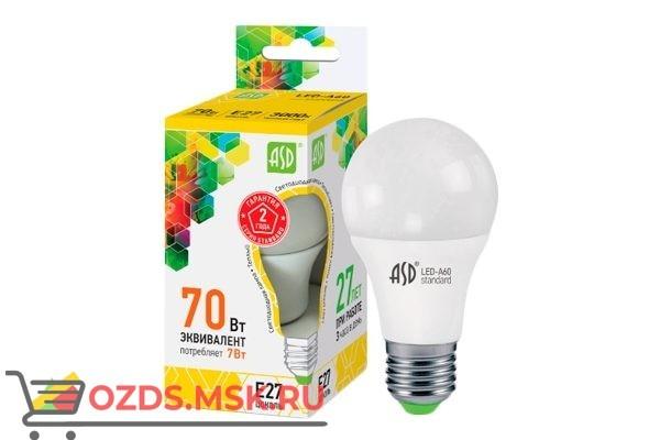 ASD LED-A60 7Вт Е27 3000К  630Лм: Лампа