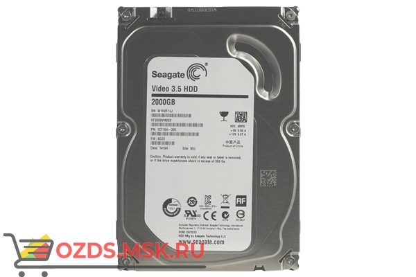 SEAGATE Skyhawk ST2000VX008, 2Тб, HDD, SATA III, 3.5″: Жесткий диск