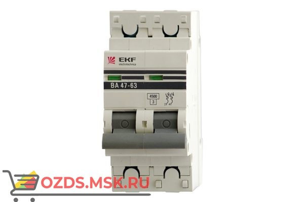 ЭКФ PROxima mcb4763-2-16C-pro Выкл.автомат. ВА 47-63 2P 16А (C) 4,5кА