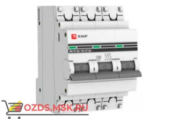 ЭКФ PROxima mcb4763-3-16в-pro Выкл.автомат. ВА 47-63 3P 16А (B) 4,5кА