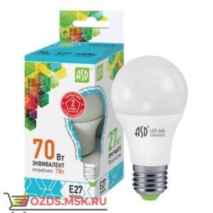 ASD LED-A60 7Вт Е27 4000К  630Лм: Лампа