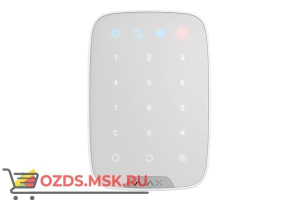 Ajax KeyPad (white) Беспроводная клавиатура с сенсорными кнопками