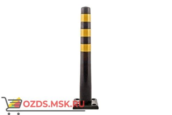 Столбик гибкий черный 750 мм с квадратным съемным основанием
