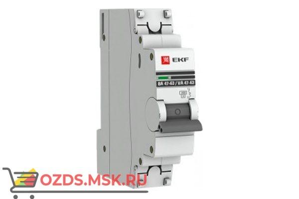 ЭКФ PROxima mcb4763-1-16d-pro Выкл.автомат. ВА 47-63 1P 16А (D) 4,5кА