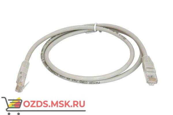 Hyperline PC-LPM-UTP-RJ45-RJ45-C5e-0.5M-LSZH-GY Патч-корд
