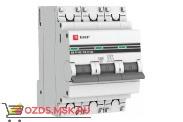 ЭКФ PROxima mcb4763-3-10в-pro Выкл.автомат. ВА 47-63 3P 10А (B) 4,5кА