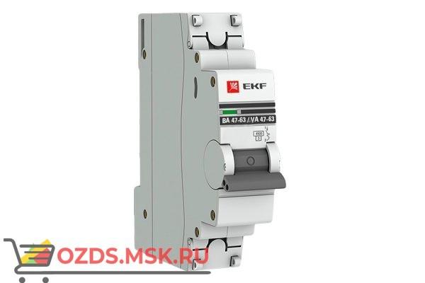 ЭКФ PROxima mcb4763-1-10B-pro Выкл.автомат. ВА 47-63 1P 10А (B) 4,5кА