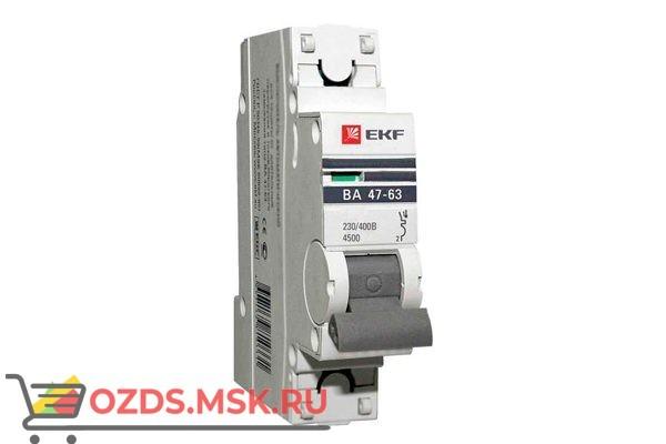 ЭКФ PROxima mcb4763-1-16B-pro Выкл.автомат. ВА 47-63 1P 16А (B) 4,5кА