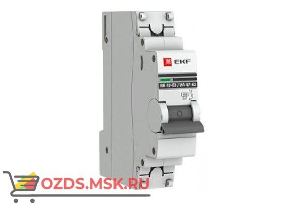 ЭКФ PROxima mcb4763-1-50C-pro Выкл.автомат. ВА 47-63 1P  50А (C) 4,5кА