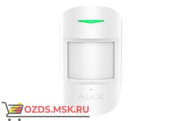 Ajax CombiProtect white Комбинированный датчик движения и разбития стекла