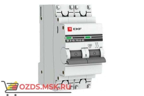 ЭКФ PROxima mcb4763-2-63C-pro Выкл.автомат. ВА 47-63 2P  63А (C) 4,5кА