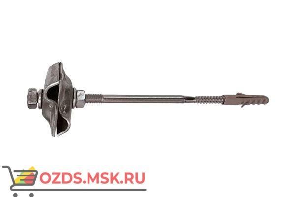 EZETEK 74065 Держатель-зажим соединительный круглого проводника 8-10 мм для бетонного фасада, оцинк.
