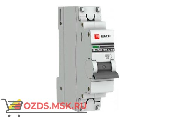 ЭКФ PROxima mcb4763-1-04C-pro Выкл.автомат. ВА 47-63 1P   4А (C) 4,5кА