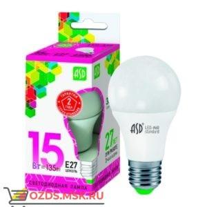 ASD LED-A60 15Вт Е27 6500К 1350Лм: Лампа