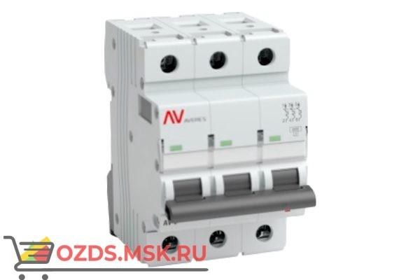 ЭКФ AVERES mcb6-3-40c-av Выкл.автомат.AV-6 3P 40A (C) 6kA