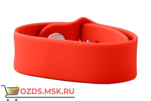Силиконовый браслет с RFID-меткой Mifare ID, 4 byte nUID (красный)