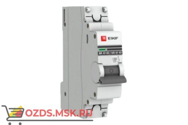 ЭКФ PROxima mcb4763-1-20в-pro Выкл.автомат. ВА 47-63 1P 20А (B) 4,5кА