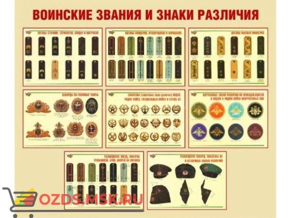 Воинские звания и знаки различия: Плакат
