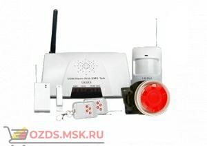 GSM Cигнализация Plus с беспроводными датчиками (с датчиком дыма и утечки газа)