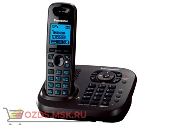 Panasonic KX-TG6561RUT - Беспроводной телефон DECT (радиотелефон) с автоответчиком, цвет темно-серы