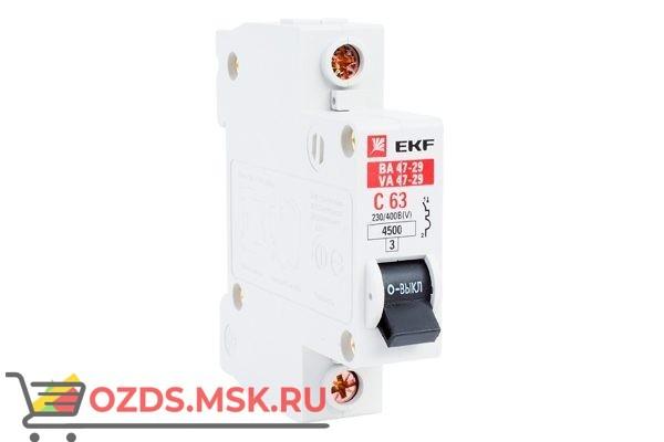 ЭКФ PROxima mcb4763-1-63C-pro Выкл.автомат. ВА 47-63 1P  63А (C) 4,5кА