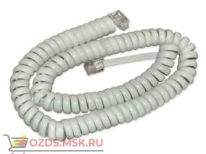 Шнур витой телефонный аппарат-трубка 4,5 м, цвет белый