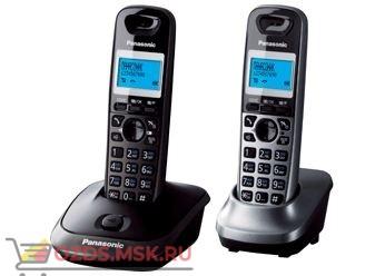 Panasonic KX-TG2512RU2-, цвет черныйсерый металлик: Беспроводной телефон DECT (радиотелефон)