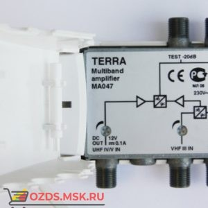 Terra Усилитель МА 047 МВ1МВ2ДМВ, 303033дБ Кш=6дБ,112дБмкВ